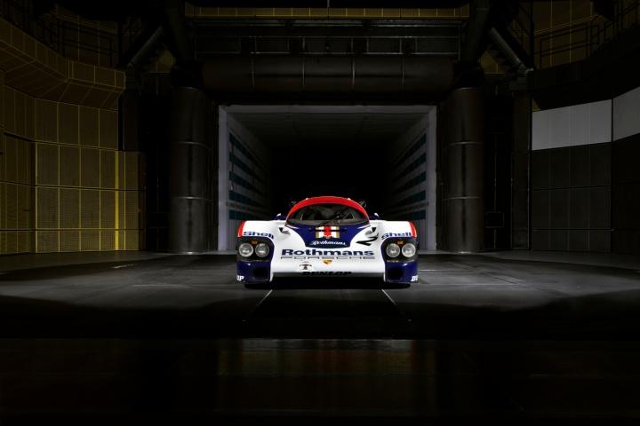 Porsche 956 im Windkanal