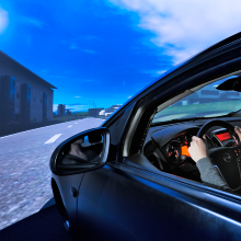 Dieses Bild zeigt IVK Fahrsimulator Kraftfahrzeugmechatronik